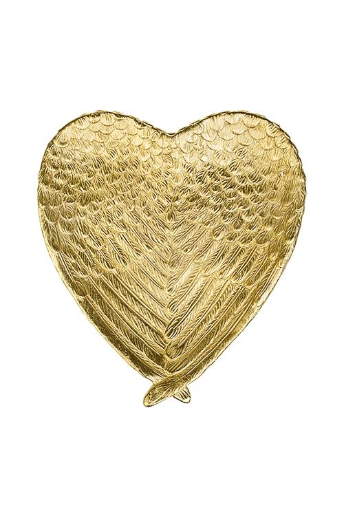 Блюдо декоративное СердцеПосуда<br>23*20см, керам., золот.<br>