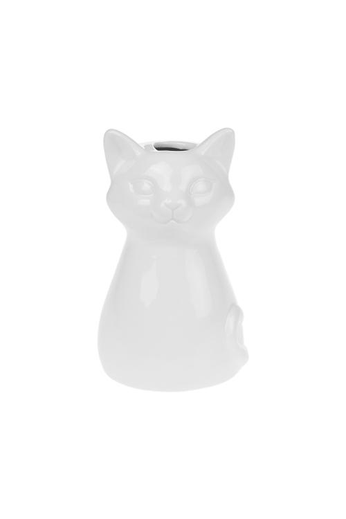 Ваза декоративная КотикКерамические вазы и кашпо<br>Выс=13см, керам., белая<br>