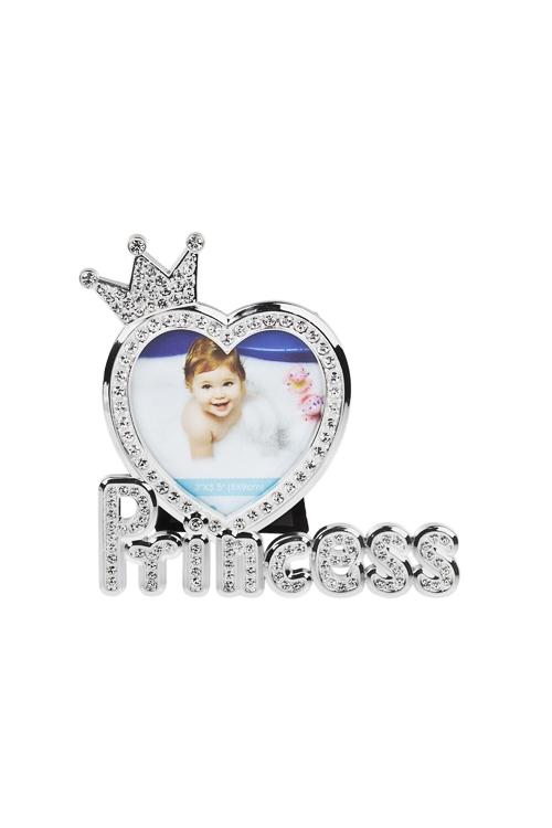 Рамка для фото ПринцессаИнтерьер<br>13.5*13.5см, фото 8*9см, металл, серебр.<br>