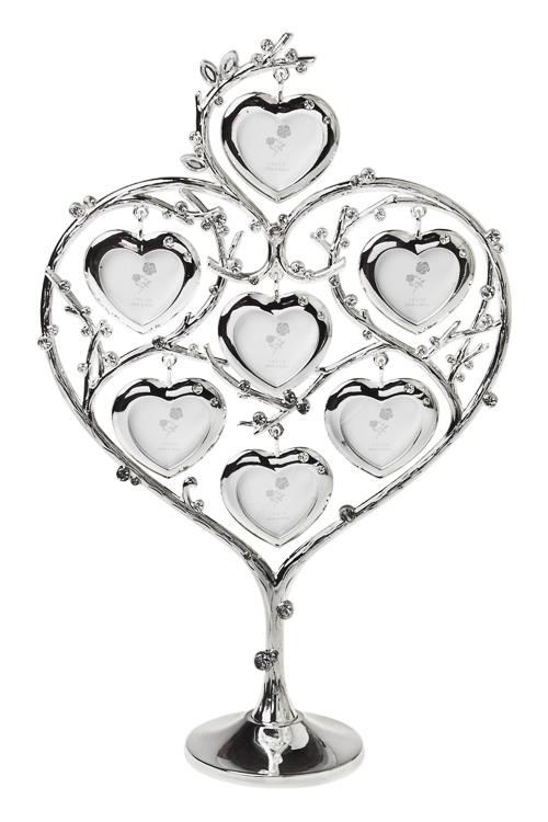Рамка для 7-ми фото Дерево любвиМеталлические фоторамки<br>20*8*31см, фото 4*4см, металл, серебр.<br>