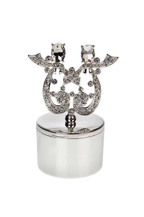 Шкатулка БлизнецыШкатулки для украшений<br>5*10см, металл, серебр.<br>