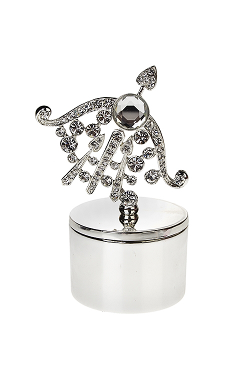 Шкатулка СтрелецШкатулки для украшений<br>5*10см, металл, серебр.<br>