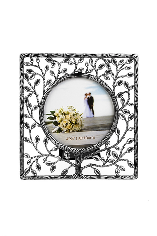 Рамка для фото Древо любвиПодарки<br>15.5*16.5см, фото 10*10см, металл, серебр.<br>