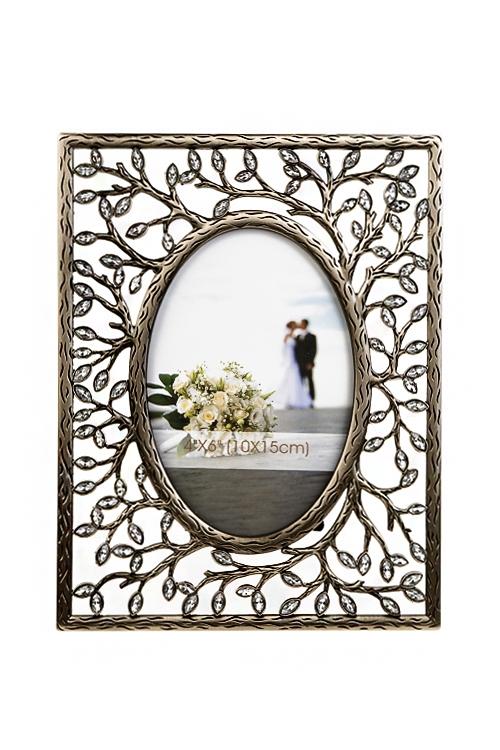 Рамка для фото Древо любвиПодарки для женщин<br>17*22см, фото 10*15см, металл, золот.<br>