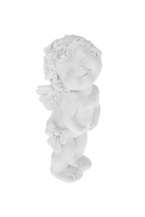 Фигурка садовая Смех озорникаПодарки ко дню рождения<br>8*7*18см, полирезин, белая<br>