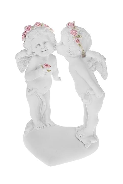 Фигурка садовая Первый поцелуй ангелочковПодарки ко дню рождения<br>16*14*24см, полирезин, белая<br>
