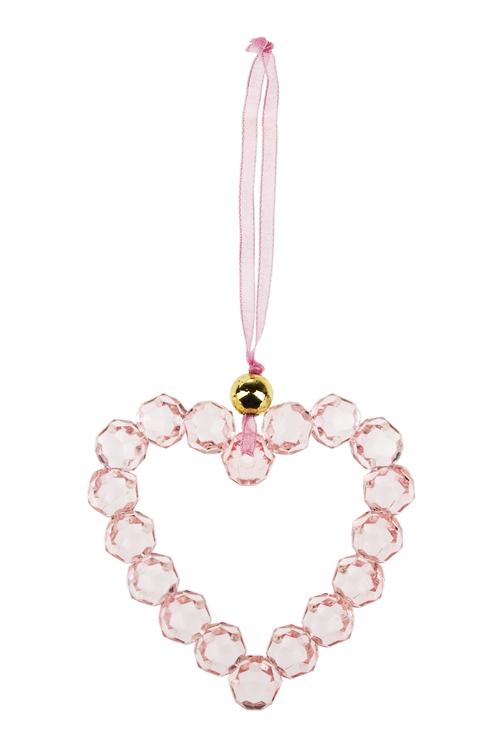 Украшение декор. Изящное сердечкоПодарки<br>7*7см, акрил, розовое, подвесное<br>