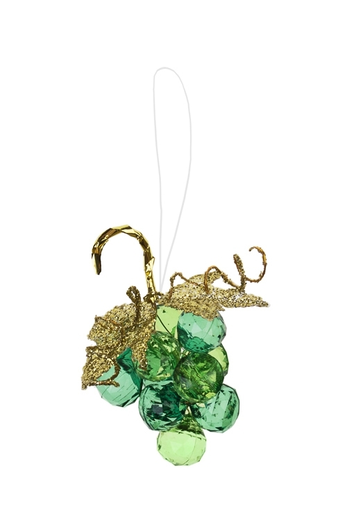 Украшение декоративное Гроздь виноградаСувениры и упаковка<br>Выс=7.5см, акрил, зеленое, подвесное<br>
