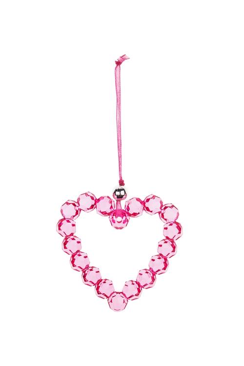 Украшение декоративное Изящное сердечкоДекоративные гирлянды и подвески<br>7*7см, акрил, малин., подвесное<br>
