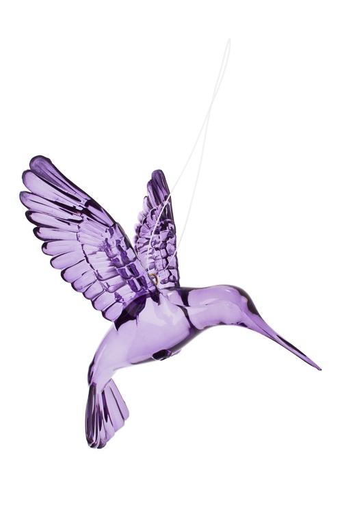 Украшение декоративное КолибриСувениры и упаковка<br>Выс=9см, акрил, фиолет., подвесное<br>