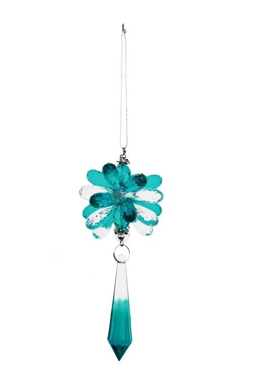 Украшение декоративное Сияние кристалловСувениры и упаковка<br>Выс=24см, акрил, бирюз.-прозр., подвесное<br>