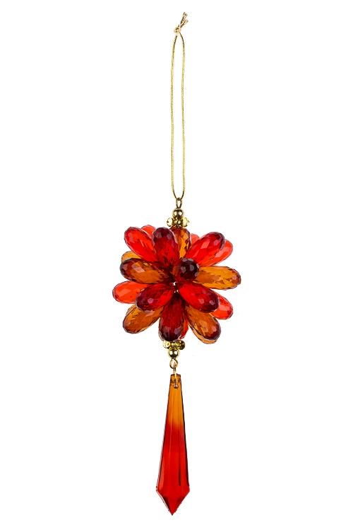 Украшение декоративное Сияние кристалловСувениры и упаковка<br>Выс=15см, акрил, шоколадно-красное, подвесное<br>