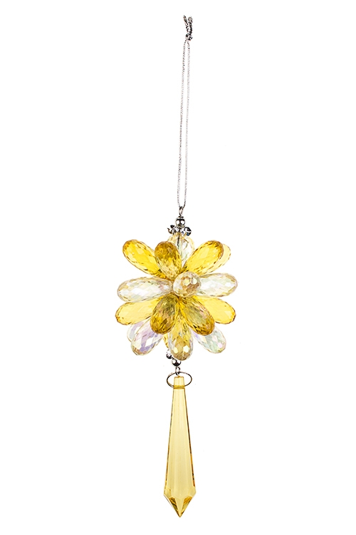 Украшение декоративное Сияние кристалловСувениры и упаковка<br>Выс=15см, акрил, крем.-золот., подвесное<br>