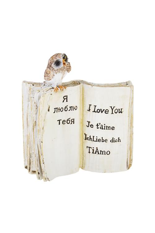 Украшение для интерьера Любовь на разных языкахСувениры и упаковка<br>9*4*10см, полирезин, беж.-зелен.<br>