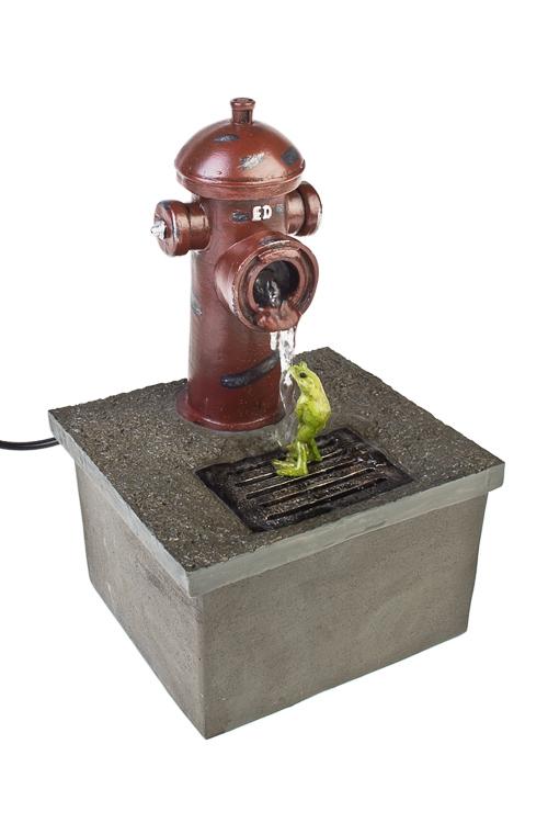 Фонтан декоративный электрический Душ для лягушкиПодарки на день рождения<br>13*11*21см, полирезин<br>