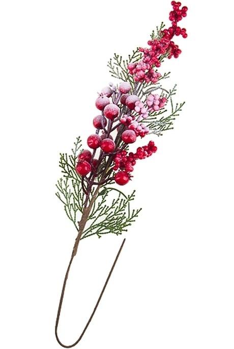 Украшение для интерьера Снежные ягодыИнтерьер<br>Дл=40см пенопласт пластм.<br>