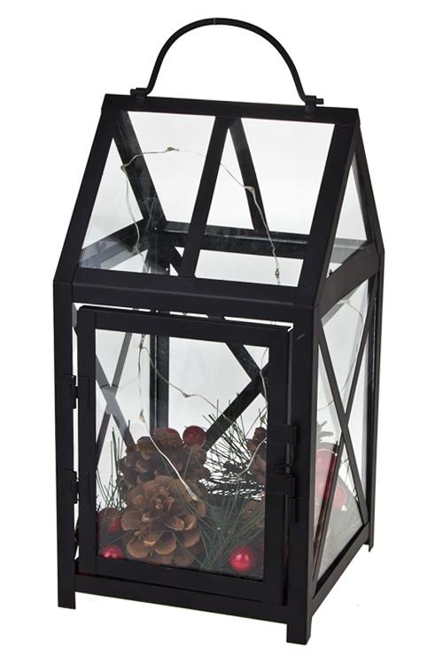 Украшение для интерьера светящеесяИнтерьер<br>14*14*27см, металл, стекло, пластм., подвесное<br>