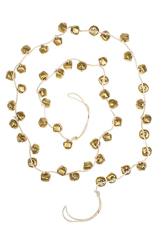 Гирлянда декоративная БубенчикиСувениры и упаковка<br>Дл=130см, металл, золот.<br>
