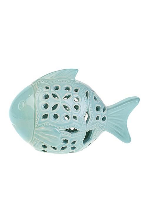 Фигурка Морская рыбкаИнтерьер<br>19*10*12см, керам., голубая<br>