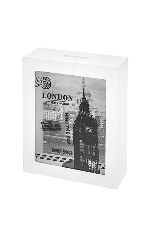 Копилка ЛондонСувениры и упаковка<br>12*5*15см, МДФ, стекло<br>