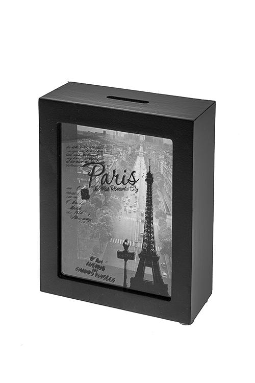 Копилка ПарижСувениры и упаковка<br>12*5*15см, МДФ, стекло<br>