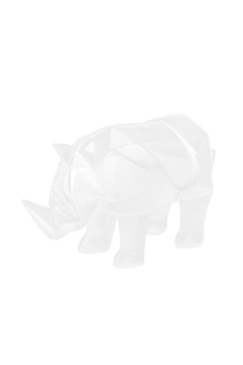 Фигурка НосорогСувениры и упаковка<br>23*7*11см, полирезин, белая<br>