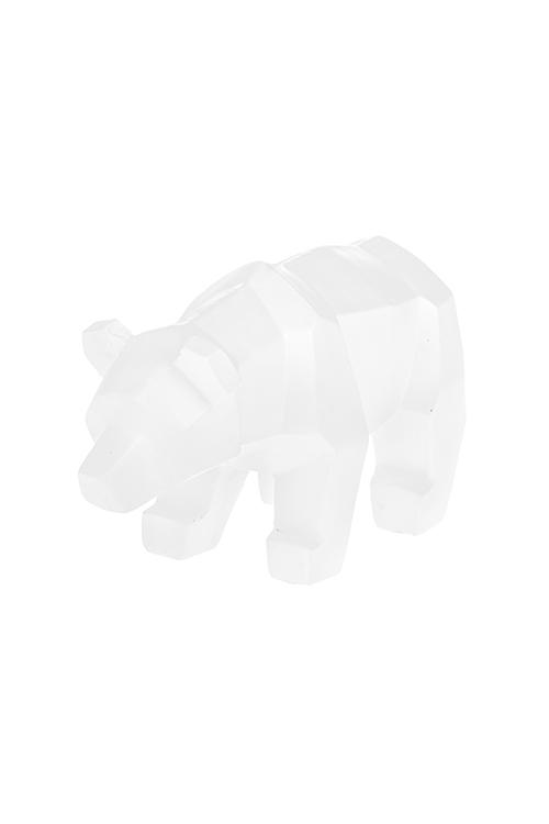 Фигурка Белый мишкаСувениры и упаковка<br>20*6.5*11.5см, полирезин, белая<br>