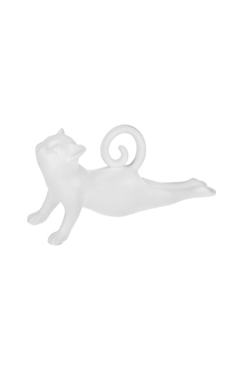Фигурка Котик-йогСтатуэтки Кошек<br>23*6*10см, полирезин, белая<br>