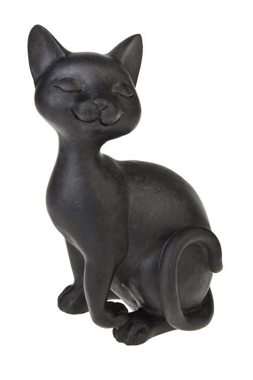 Фигурка Важная кисаСтатуэтки Кошек<br>Выс=23см, полирезин, черная<br>