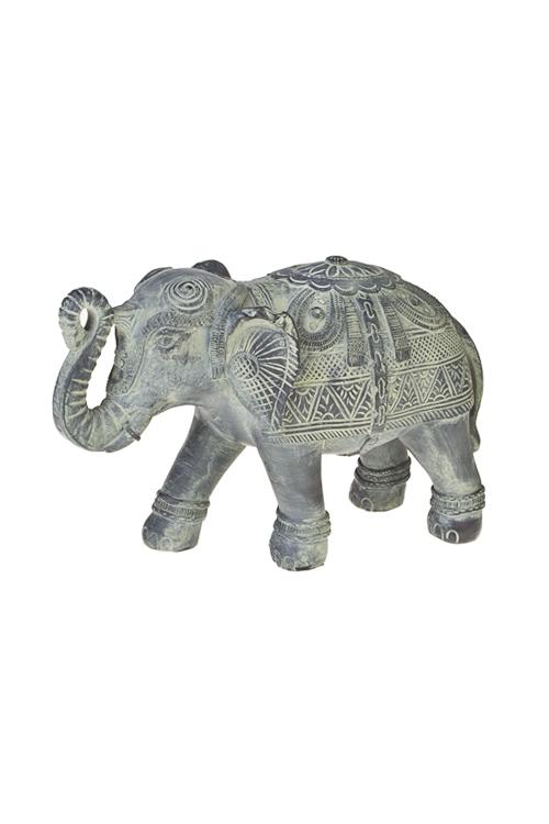 Фигурка Королевский слонИнтерьер<br>21*8*13см, полирезин, черно-зеленая<br>