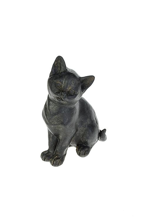 Фигурка Маленький котенокИнтерьер<br>9*6*13см, полирезин, черная<br>
