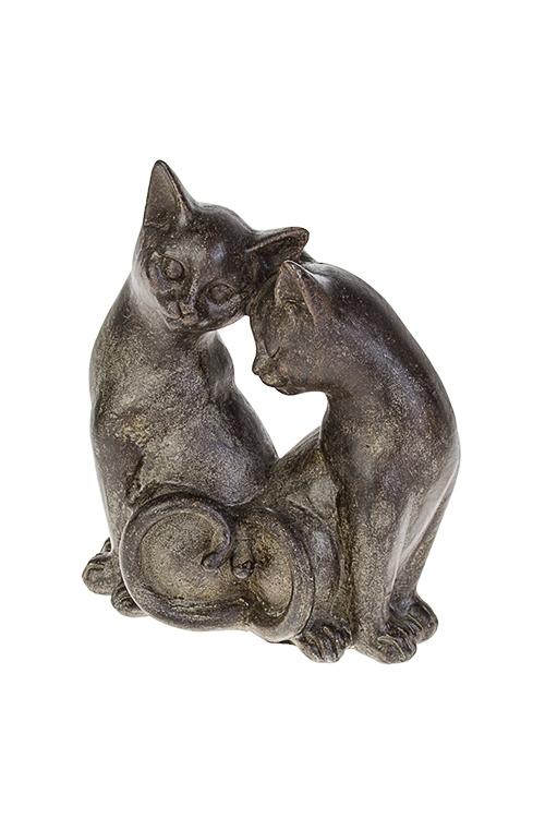 Фигурка Котик и кошечкаИнтерьер<br>15*8*18см, полирезин, темно-коричн.<br>