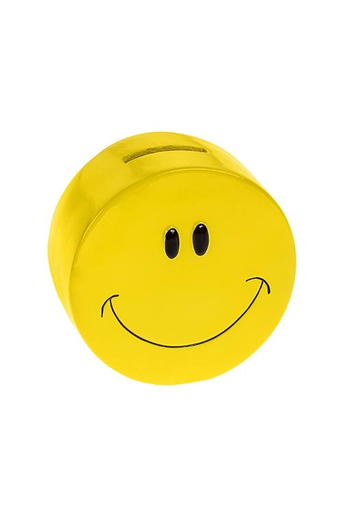 Копилка СмайлСувениры и упаковка<br>11*5.5см, полирезин, желтая<br>