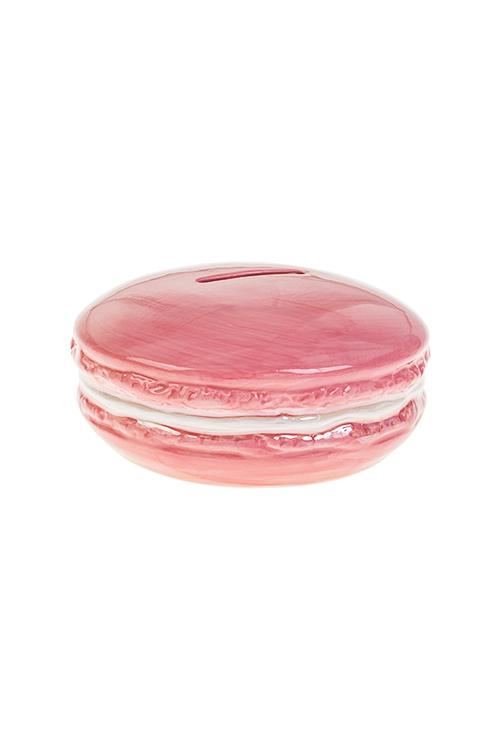 Копилка МакаронсСувениры и упаковка<br>13*6см, полирезин, розовая<br>
