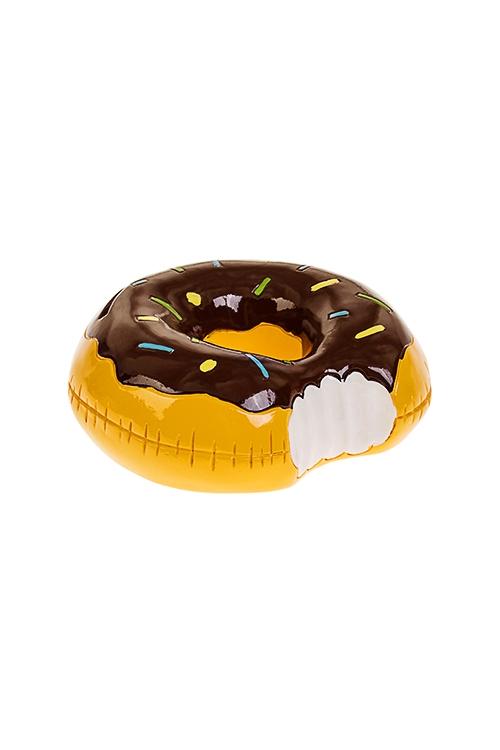 Копилка Шоколадный пончикСувениры и упаковка<br>13*5см, полирезин, желто-коричн.<br>