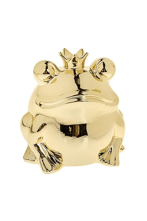 Копилка Царевна-лягушкаКопилки и сейфы<br>14*12*14см, керам., золот.<br>