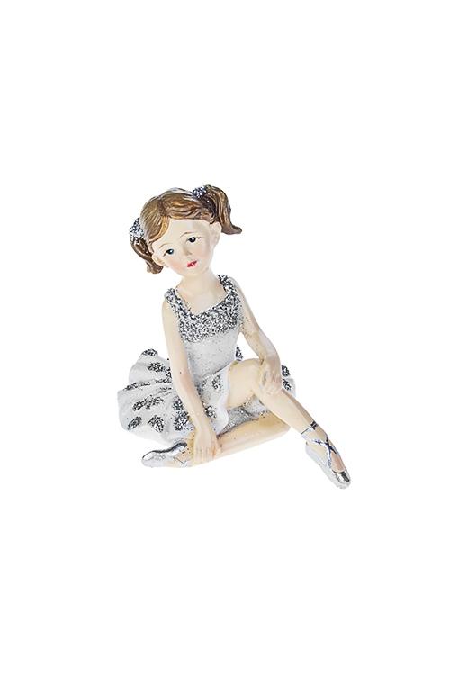 Фигурка БалеринаСувениры и упаковка<br>4.5*5.5*6см, полирезин, бело-серебр. (2 вида)<br>
