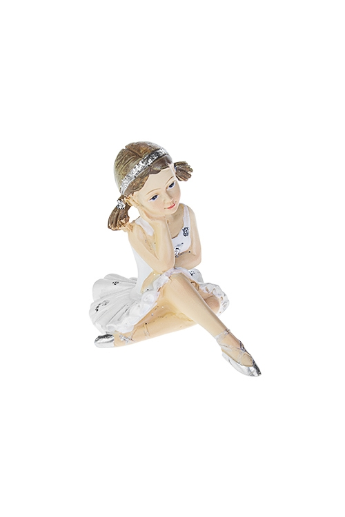 Фигурка БалеринаСувениры и упаковка<br>5*7.5*7см, полирезин, бело-серебр. (2 вида)<br>