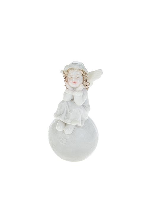 Фигурка Мечтающий ангелокСувениры и упаковка<br>Выс=8см, полирезин, крем.<br>