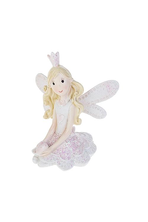 Фигурка Волшебная принцессаСувениры и упаковка<br>8*9см, полирезин, крем.-розовая (2 вида)<br>