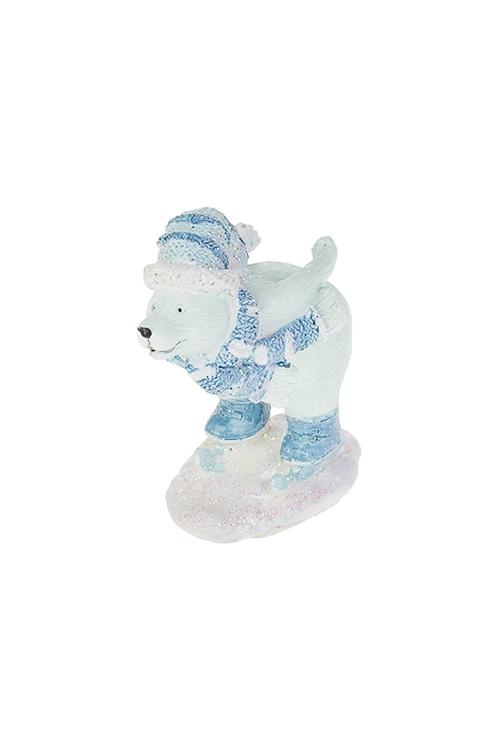 Фигурка Полярный мишкаСувениры и упаковка<br>8*5.5*10см, полирезин, бело-голубая (2 вида)<br>