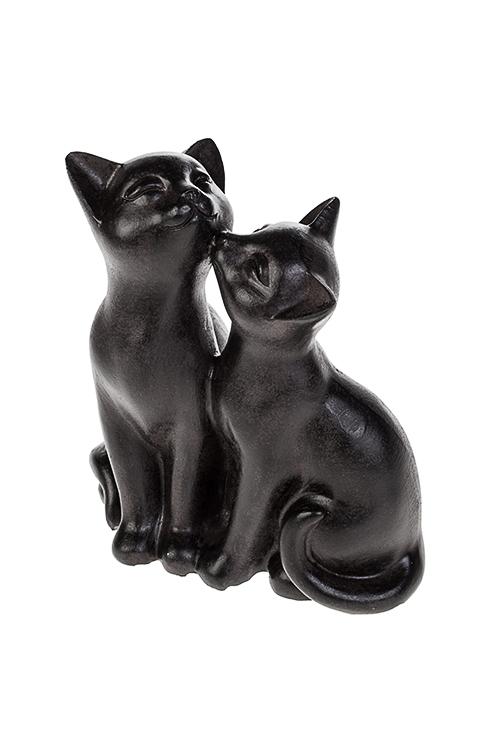 Фигурка Влюбленные котикиСувениры и упаковка<br>13*7.5*14.5см, полирезин, темно-коричн.<br>