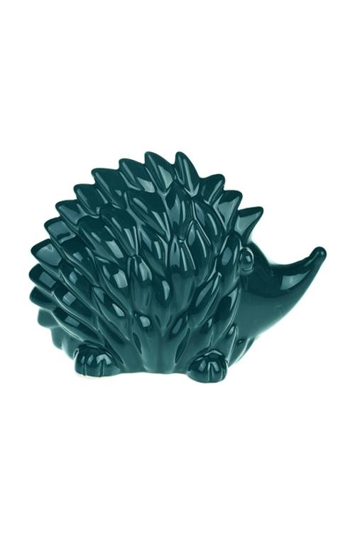 Фигурка ЕжикСувениры и упаковка<br>18*8*13см, керам., сине-зеленая<br>