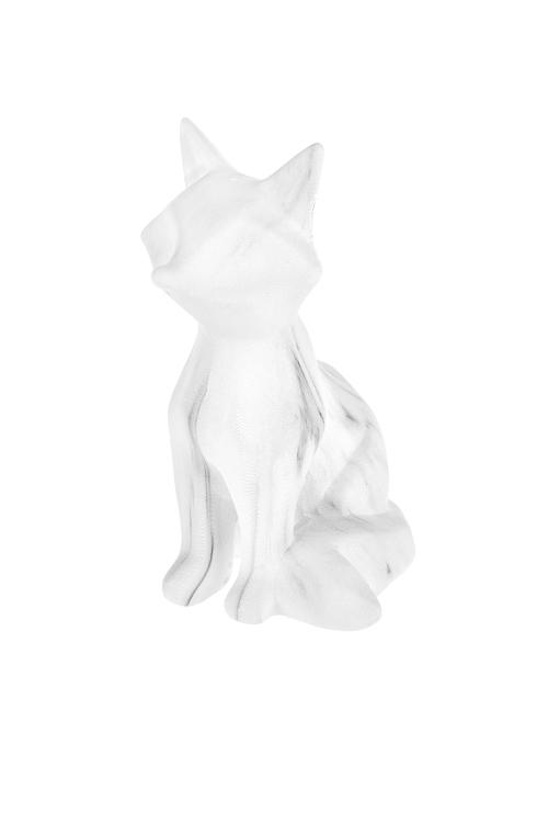 Фигурка Мраморная лисаФигурки<br>8*10.5*14см, керам., бело-серая<br>