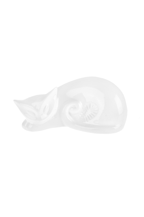 Фигурка Спящий котикИнтерьер<br>16*9.5*7см, керам., белая<br>
