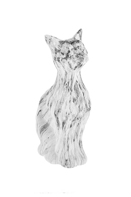 Фигурка Мраморная кошкаИнтерьер<br>8*11*22см, керам., серо-белая<br>