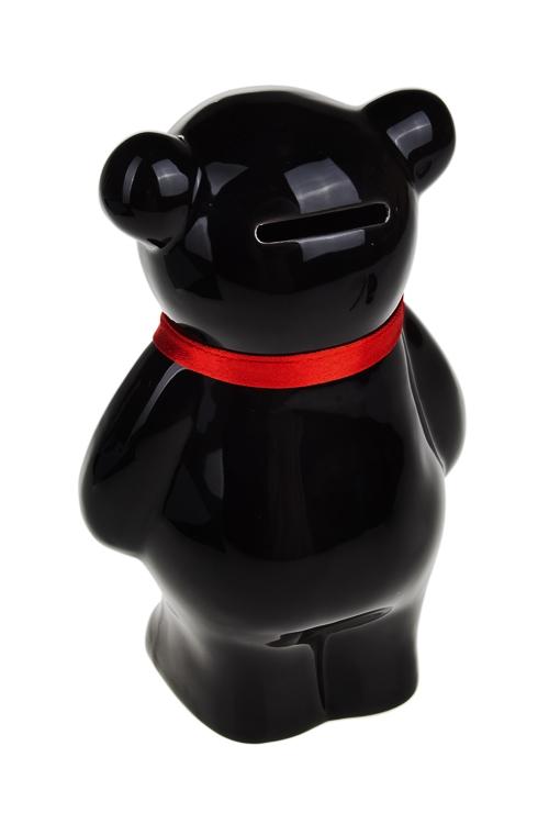 """Копилка """"Мишка с галстуком"""", черная - 2"""