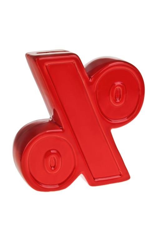 Копилка ПроцентСувениры и упаковка<br>15*5*16см, доломит. керам., красная<br>