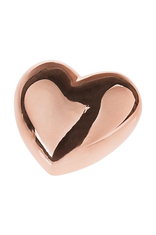 Копилка СердцеКопилки и сейфы<br>17*14*10.5см, керам., золот.<br>