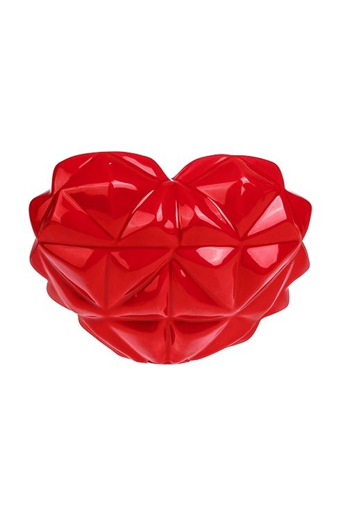 Копилка Сердце-оригамиКопилки и сейфы<br>19*9*14.5см, керам., красная<br>